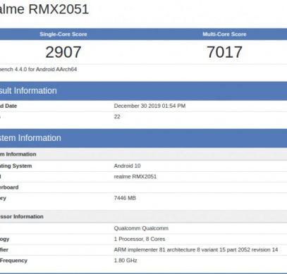 Смартфон Realme X50 засветился в базе бенчмарке Geekbench - 1