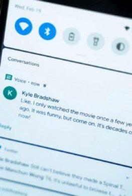 Шторка уведомлений в Android 11