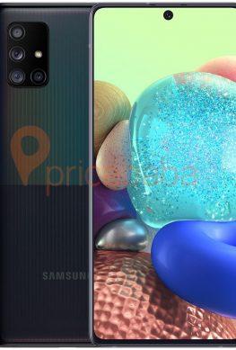 Смартфон Samsung Galaxy A71 5G с квадрокамерой предстал на качественных рендерах