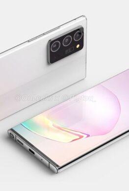 Телефон Samsung Galaxy Note 20 Plus показался на рендерах