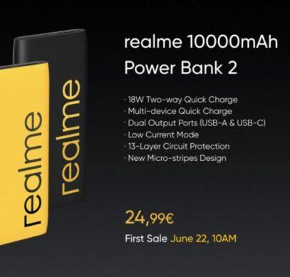 Внешний аккумулятор Realme Power Bank 2 уже можно купить в Европе