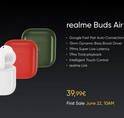 Беспроводные наушники Realme Buds Air Neo поступили в продажу в Европе