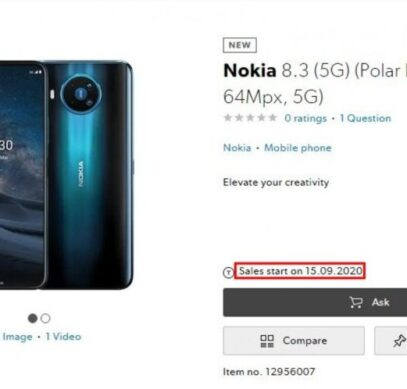 Nokia 8.3 5G выйдет только через полгода после анонса
