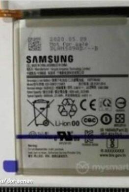Гигантский аккумулятор Samsung Galaxy M31s на фото