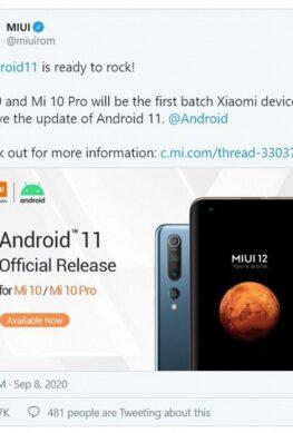 Флагманы Xiaomi Mi 10 и Mi 10 Pro получили Android 11. Но есть нюанс