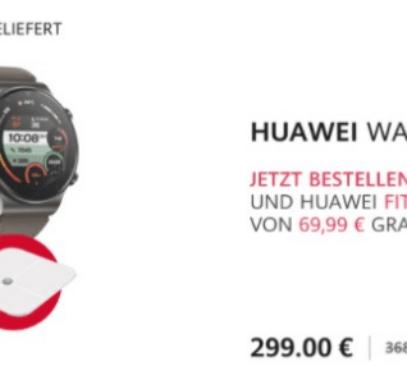 Покупатели Huawei Watch Fit, Watch GT 2 Pro и FreeBuds Pro в Европе получают умные весы в подарок