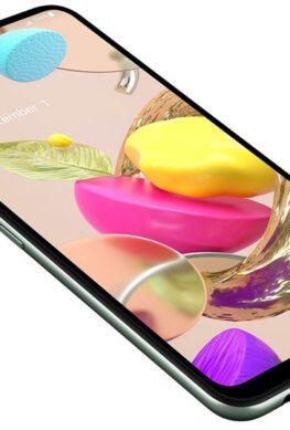 Телефон LG K42 выделяется необыкновенным исполнением задней панели