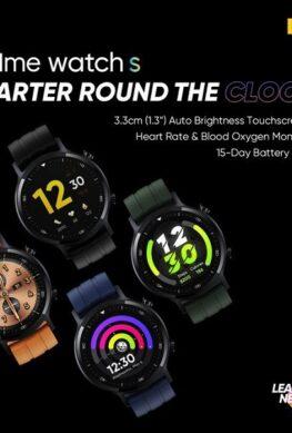 Умные часы Realme Watch S выходят 2 ноября